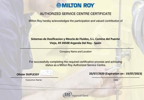 SDM nombrado centro de servicio autorizado Milton Roy para España y Portugal